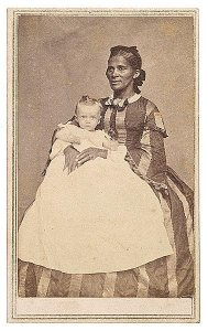 CDV of African American Nanny and Her Charge, with J.N. Wilson, Savannah, Ga